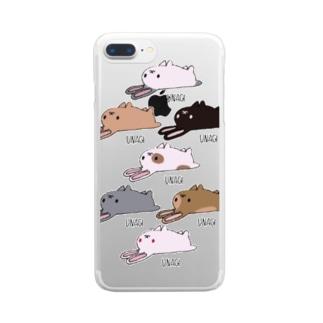 うなぎシリーズ Clear smartphone cases