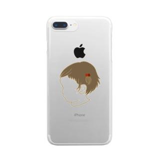 くせ毛の女のコ Clear smartphone cases