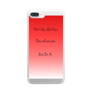 がむしゃらにやれ! Clear smartphone cases