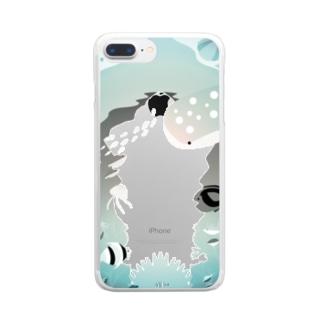 魚のいる海 Clear smartphone cases