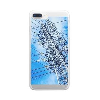 送電線 Clear smartphone cases