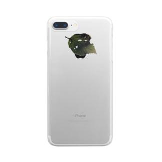 はっぱ Clear smartphone cases