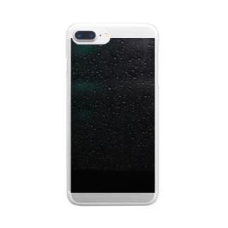 雨模様 Clear smartphone cases