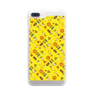 みやじかくん(パターン/Y) Clear smartphone cases