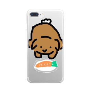 献上うさぎ Clear smartphone cases