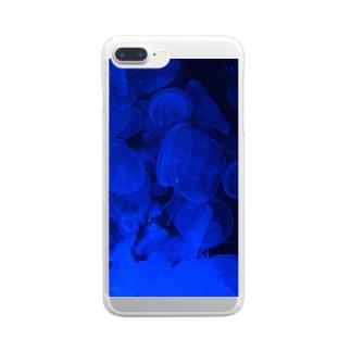 くらげさん Clear smartphone cases