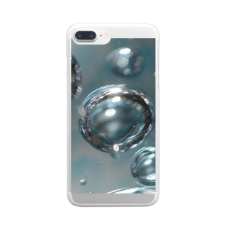 AQUA BLUE Clear smartphone cases