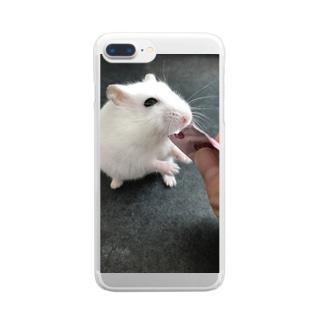 ハムスターのゆきみ Clear smartphone cases