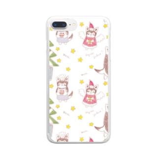 めりめりクリスマス🎄 Clear smartphone cases