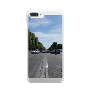 パリのシャンゼリゼ通り Clear smartphone cases