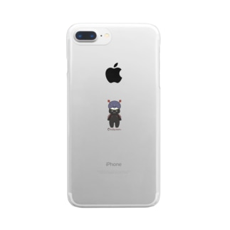 茶々丸(くろ) Clear smartphone cases
