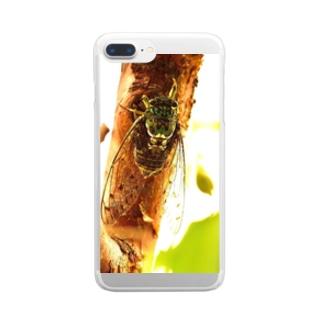 夏休み Clear smartphone cases
