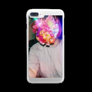 海月。の花女ちゃん Clear smartphone cases
