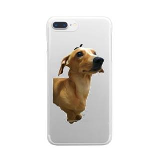 犬子 wanko Clear smartphone cases