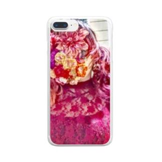 花女ちゃん Clear smartphone cases
