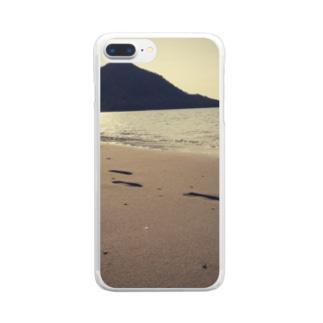 夏の足跡 Clear smartphone cases