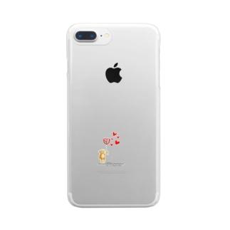 くまー! Clear smartphone cases
