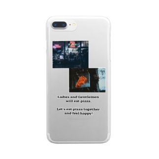 pizza night Clear smartphone cases