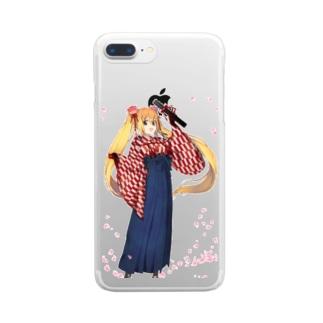 卒業式 Clear smartphone cases