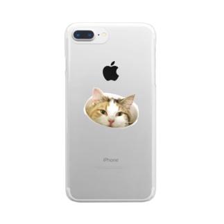みほさんちのあんずちゃん Clear smartphone cases