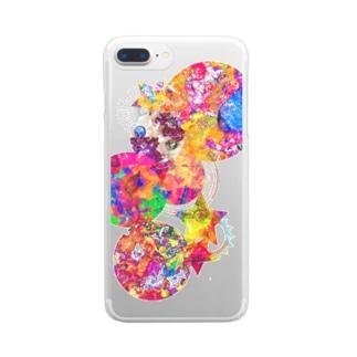 Mi Vida Loca 浸食虹彩 Clear smartphone cases
