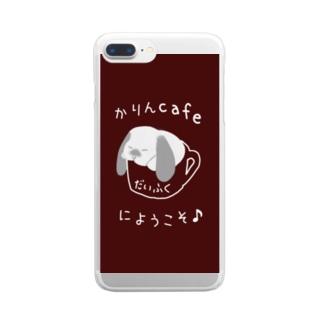 ぐでマグ大福スマホケース Clear smartphone cases