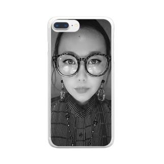 謎の女 Clear smartphone cases