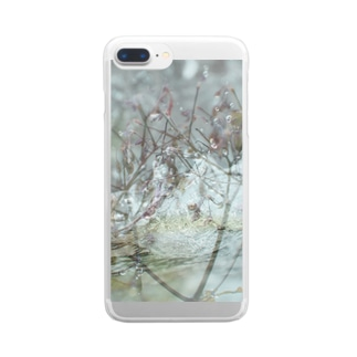 肌触り Clear smartphone cases