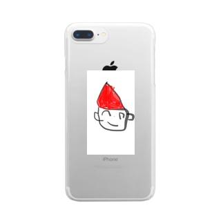 サンタさん Clear smartphone cases