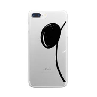 ちらりパンダ Clear smartphone cases