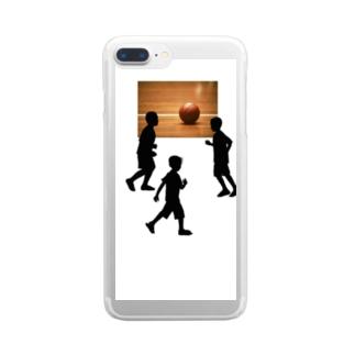 バスケやろうよ Clear smartphone cases
