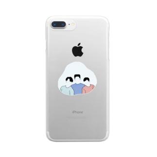 胸キュン! Clear smartphone cases
