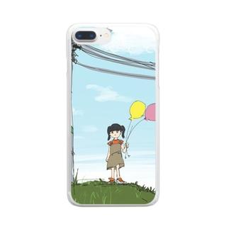 風船 Clear smartphone cases