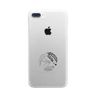 のんすけ公式ロゴ Clear smartphone cases