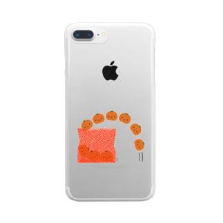 みかんの出荷 Clear smartphone cases