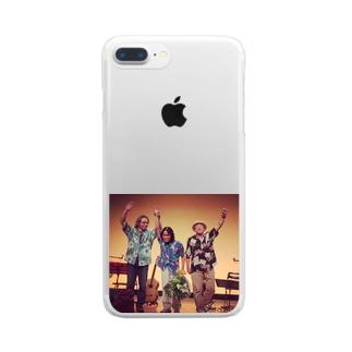 ブンちゃんバンド Clear smartphone cases