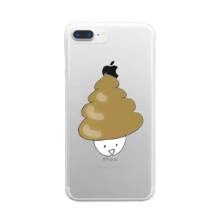 スタンダードうんこ Clear smartphone cases