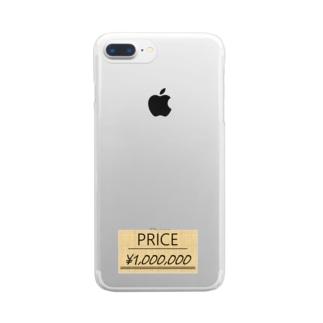 値札つき Clear smartphone cases