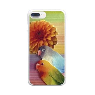 はなとり。 Clear smartphone cases