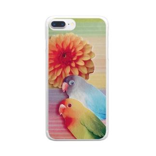 はなとり。うすめ。 Clear smartphone cases