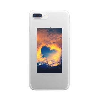 ハート雲 Clear smartphone cases