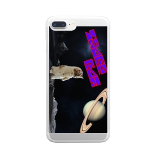 SPACE CAT Clear smartphone cases