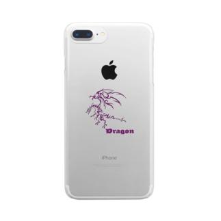 ドラゴンⅦ(紫色) Clear smartphone cases