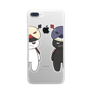 茶々丸クリアケース Clear smartphone cases