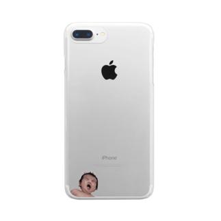 あくびの新生児 Clear smartphone cases