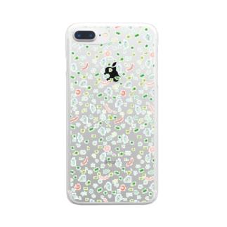 金魚のおやつケース Clear smartphone cases