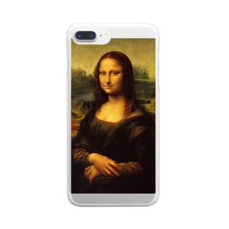 名画「モナ・リザ」 Clear smartphone cases