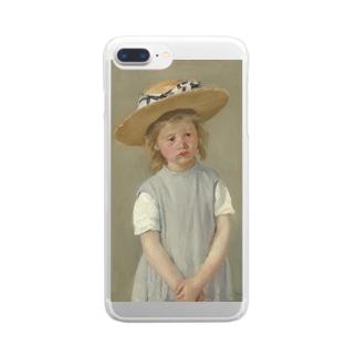 メアリー・カサット作「麦わら帽子をかぶった少女」 Clear smartphone cases