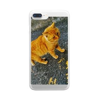キャッツ Clear smartphone cases