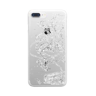 ロックドロップキック Clear smartphone cases